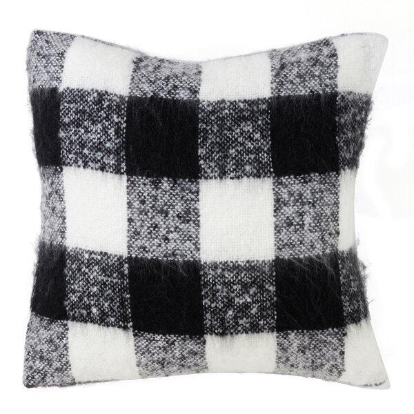 Zelaya Mohair Plaid Throw Pillow by Gracie Oaks