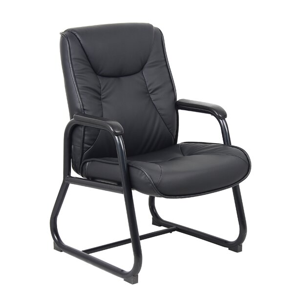 High-Back Leather Guest Chair by Boss Office Products