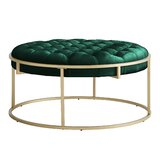 Gambier 38'' Velvet Tufted Cocktail Ottoman by Everly Quinn