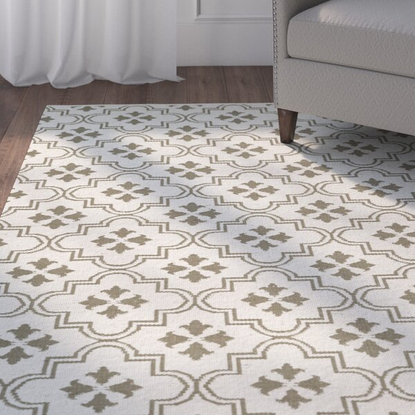 Covington Cream/Taupe Indoor/Outdoor Area Rug by Charlton Home