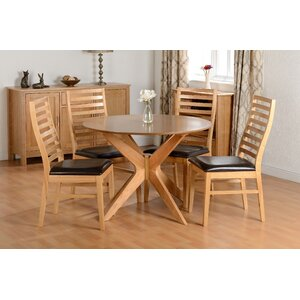 Essgruppe Chris mit 4 Stühlen von Home Loft Concept