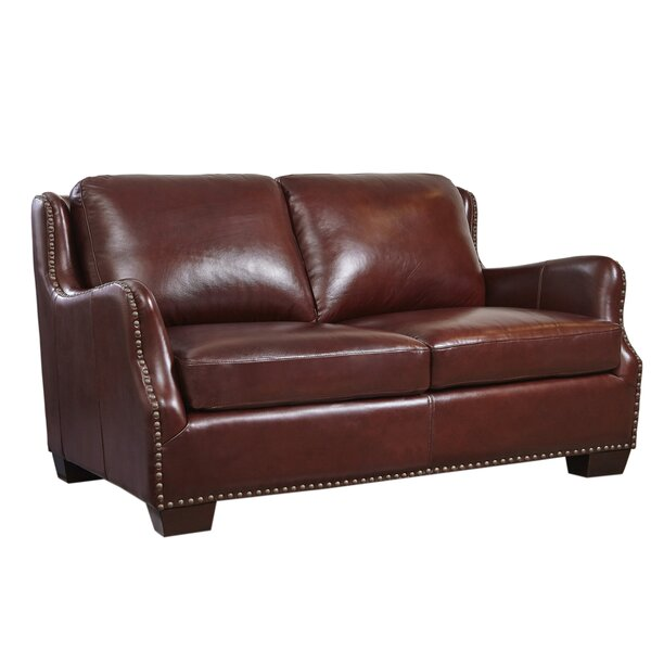 Milligan Leather Loveseat by Canora Grey