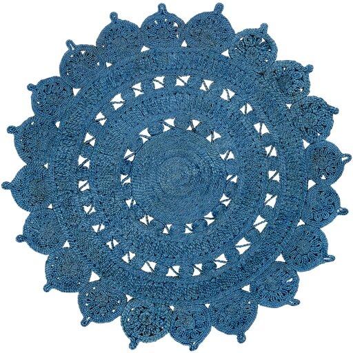 Sartain Hand-Woven Blue Area Rug by August Grove