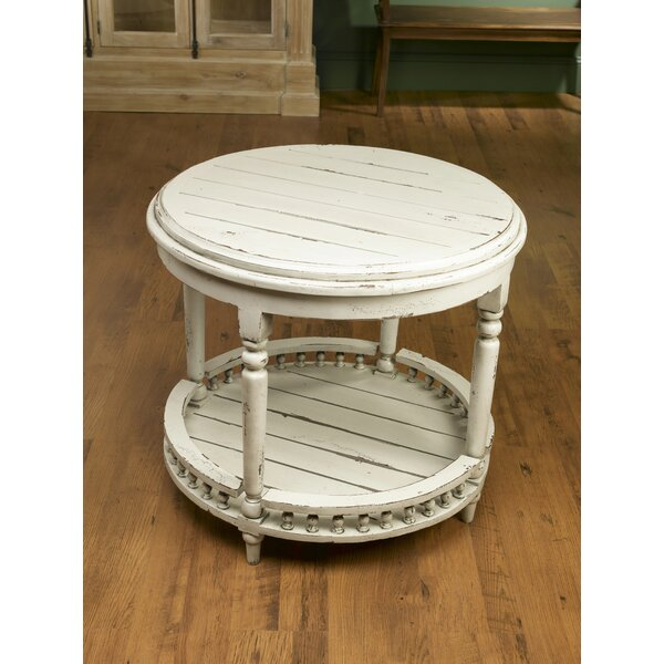 Gingras Round Plank Top End Table by Darby Home Co