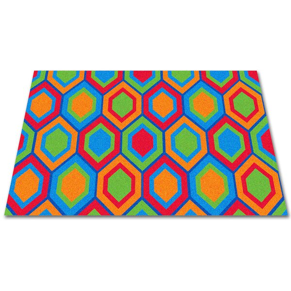 Sitting Hexagons Area Rug by Kid Carpet