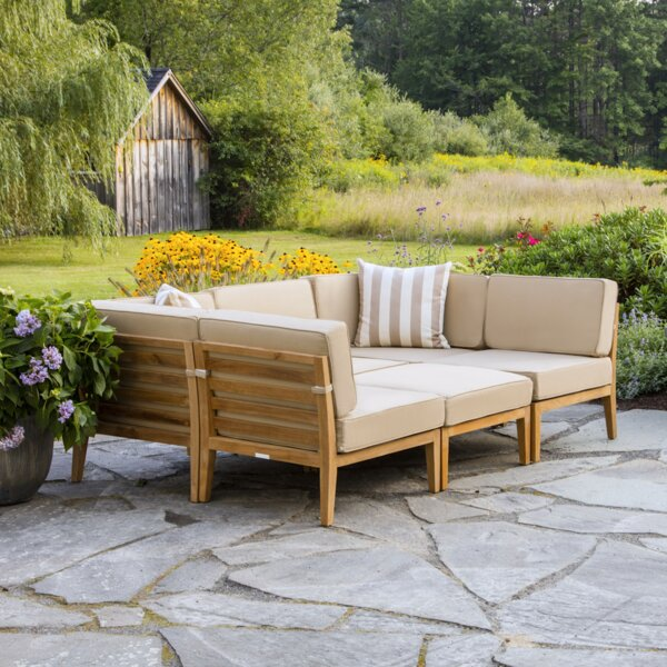 Bali Teak Patio Sectional with Cushions by Madbury Road Madbury Road