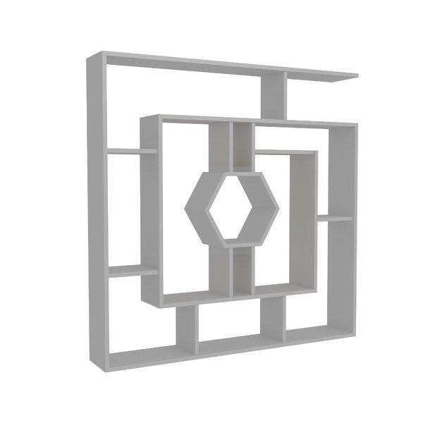 Okane Geometric Bookcase by Wrought Studio