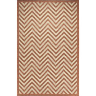 Hughes Coral/Beige Indoor/Outdoor Area Rug By Brayden Studio