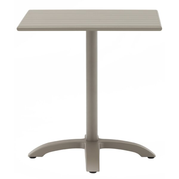 Square Aluminum Dining Table by H&D Restaurant Supply, Inc.
