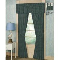 Green Tartan Plaid Curtain Panels Set Of 2