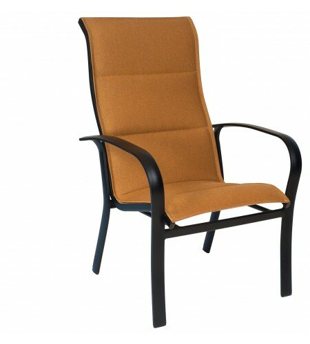 Fremont Sling High-Back Stacking Patio Dining Chair by Woodard