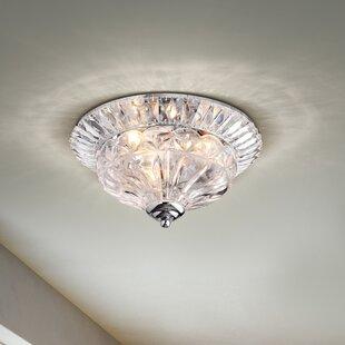 Reviews Mckain 3-Light Flush Mount By House of Hampton