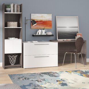 Frederick Desk with Storage Tower