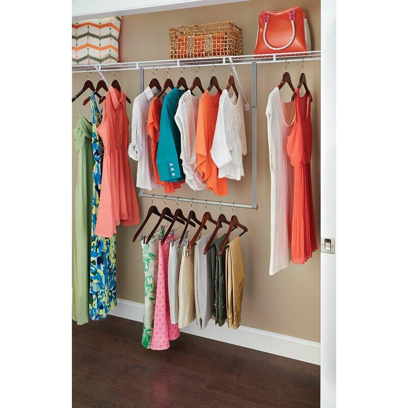 Closetmaid 31220 Double Hang Closet Rod Nickel
