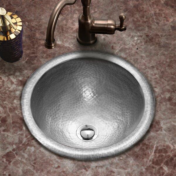 Hammerwerks Metal Circular Drop-In Bathroom Sink with Overflow