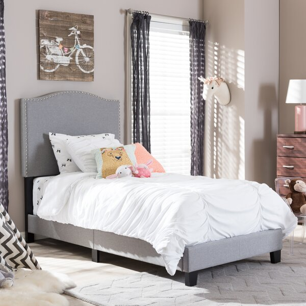 Perkinson Twin Upholstered Platform Bed by Harriet Bee