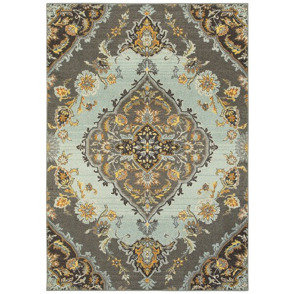 Belmonte Gray/Blue Area Rug by Bungalow Rose