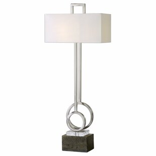 Brushed nickel table lamps wayfair parkhill brushed nickel 16 table lamp mozeypictures Image collections