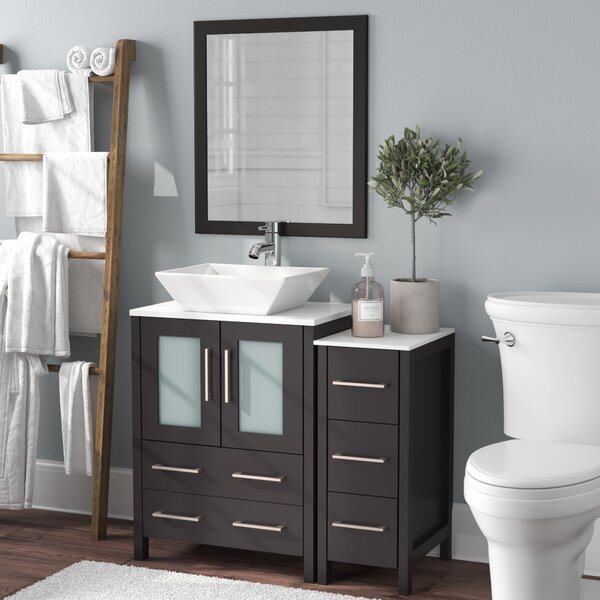 Megaira 36 Single Bathroom Vanity Set with Mirror by Brayden Studio