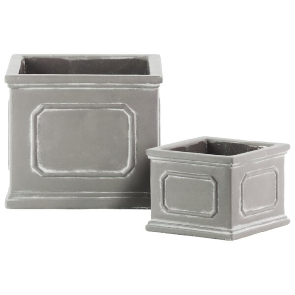 Keyser Square 4-Piece Cement Pot Planter Set by Ophelia & Co.