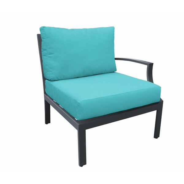 Kandiyohi Left Arm Patio Chair with Cushions by Wrought Studio
