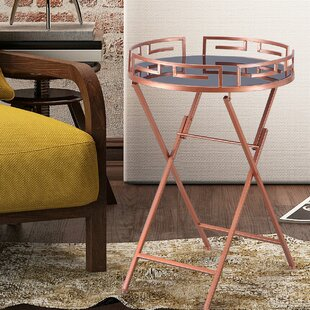 Collins Modern Accent Metal Tray Table by Everly Quinn