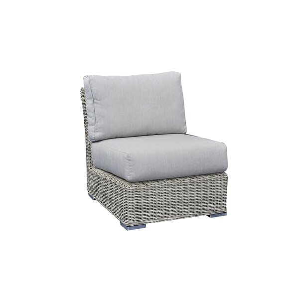 Norman Center Armless Sectional Patio Chair with Cushions by Bayou Breeze