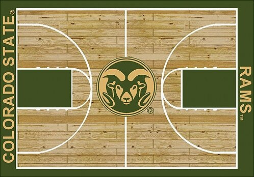 NCAA College Home Court Colorado State Novelty Rug by My Team by Milliken