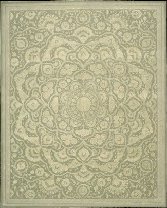 Riggs Hand-Tufted Green Area Rug by Bloomsbury Market