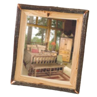 Hickory Log Wall Mirror by Fireside Lodge