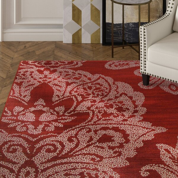 Klahn Red Area Rug by House of Hampton
