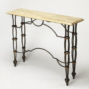 Girona Fossil Console Table by Butler
