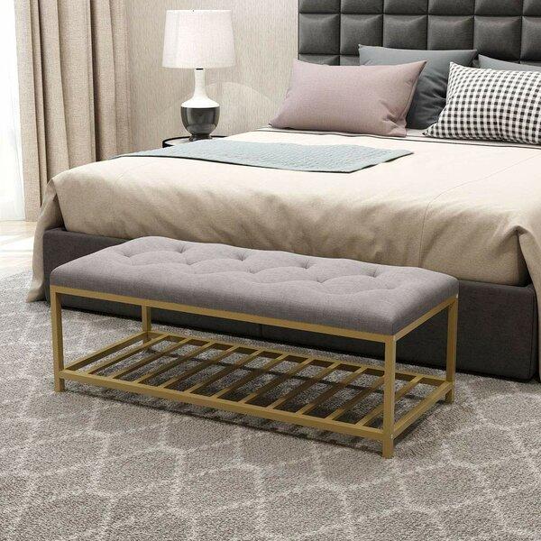 Duda Metal/Upholstered Storage Bench