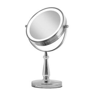Next Generation Two-Sided LED Lighted Swivel Makeup/Shaving Mirror Zadro