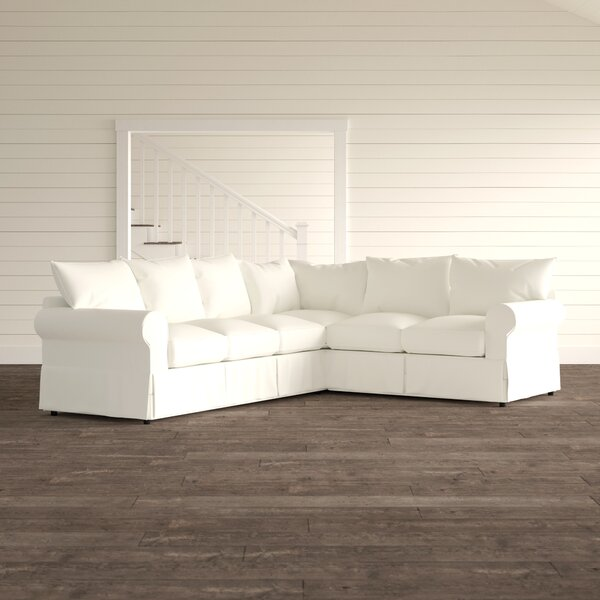 Review Jameson Upholstered L-Shaped Sectional