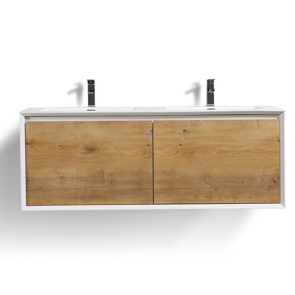 Murdock 59 Wall-Mounted Double Bathroom Vanity Set by Union Rustic