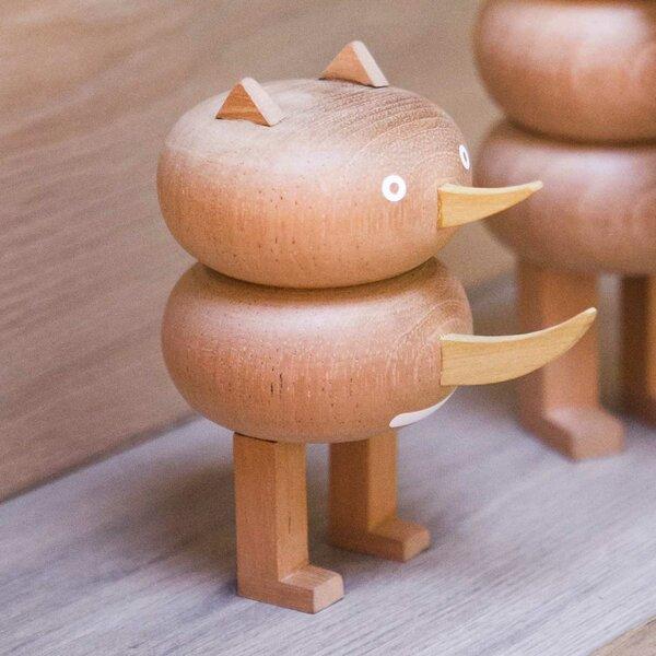 Funny Farm Ronny Rhino Handmade Wood Figurine by LZF