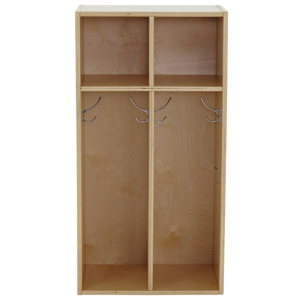 Birch Streamline 2 Section Coat Locker by ECR4kidsBirch Streamline 2 Section Coat Locker by ECR4kids