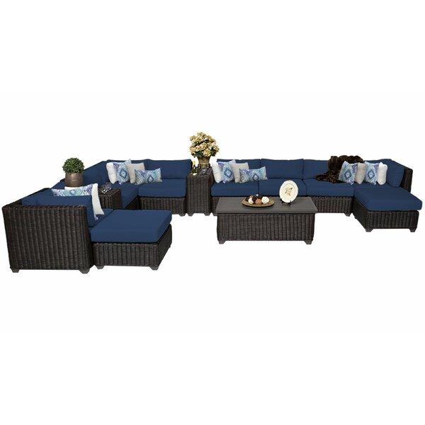 Fairfield 13 Piece Sectional Seating Group with Cushions by Sol 72 Outdoor