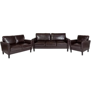 Laila Upholstered 3 Piece Living Room Set by Wrought Studio™