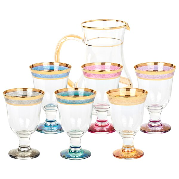 Melania Beverage Serving Set (Set of 7) by Lorren Home Trends