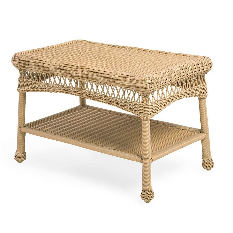 Rattan Coffee Table The Range: Plow & Hearth Wicker Coffee Table & Reviews