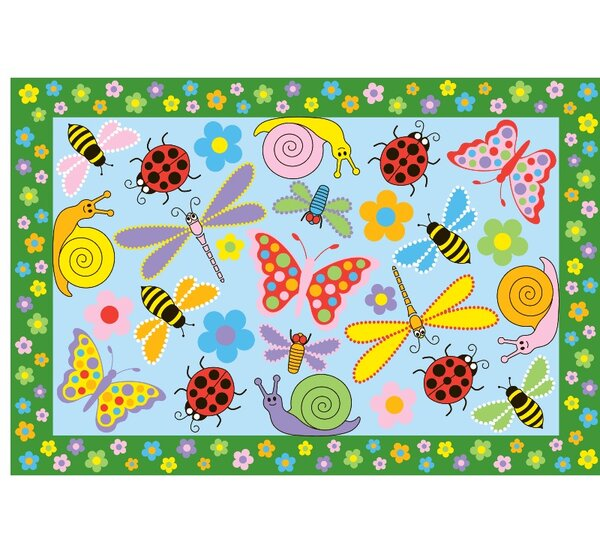Fun Time Exotic Creatures Kids Rug by Fun Rugs