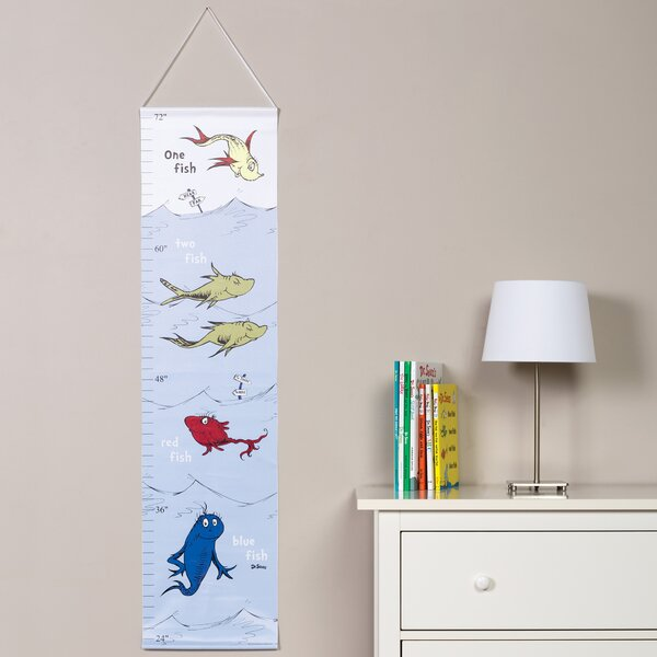 Dr. Seuss One Fish Two Fish Growth Chart by Trend Lab