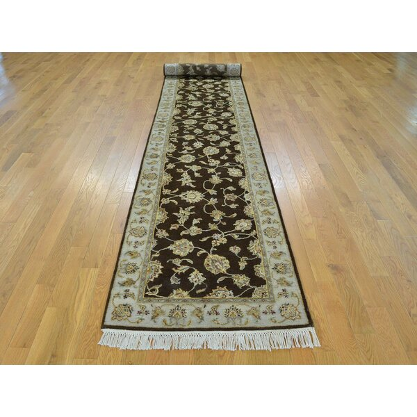 One-of-a-Kind Benally Hand-Knotted Brown Wool/Silk Area Rug by Isabelline