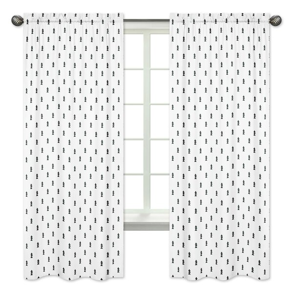 Bear Mountain Wildlife Rod Pocket Window Curtain Panels Set Of 2 By Sweet Jojo Designs.