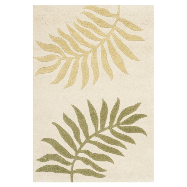 Gatewood Hand-Woven Wool Ivory Area Rug by Beachcrest Home