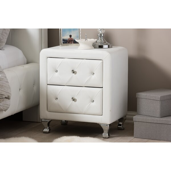 Stella Nightstand in White by Wholesale Interiors