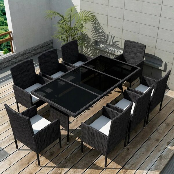 Cosgrove 9 Piece Dining Set with Cushions by Brayden Studio