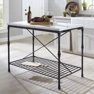 Stainless steel prep stations tables youll love wayfair castille prep table with marble top watchthetrailerfo